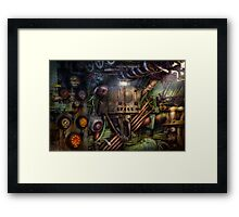 Steampunk - Naval - The comm station Framed Print