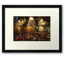 Steampunk - Naval - The torpedo room Framed Print