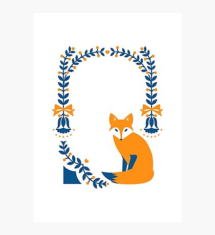 Little Folk Fox Photographic Print