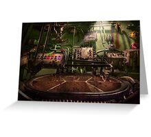 Steampunk - Naval - This is where I do my job Greeting Card