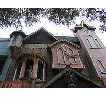 Old Town's Haunted House Photographic Print