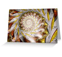 Steampunk - Spiral - Time Iris Greeting Card