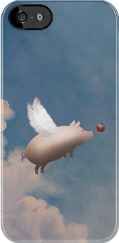 flying pig iphone case by pigswing