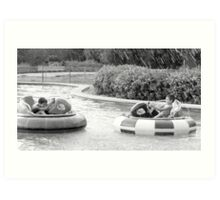 Bumper boat fun! Art Print