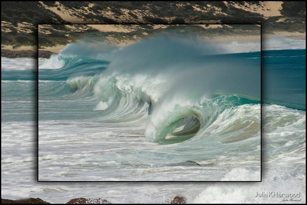 Waves at Injinup by Julia Harwood