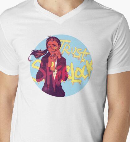 Trust Sherlock Mens V-Neck T-Shirt