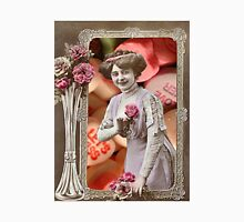 Vintage Valentine's Day Collage (Candy Hearts Lady) T-Shirt