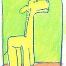 giraffe (yellow) by erincox