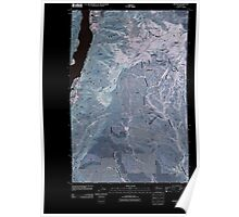 USGS Topo Map Washington State WA Orondo 20110411 TM Inverted Poster