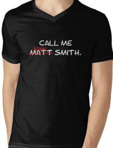 Call me John Smith - Matt Smith Doctor Who white Mens V-Neck T-Shirt