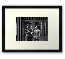"""Um..hun, there's a photographer taking photographs of us taking photographs"" Framed Print"