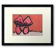 Pink Mushrooms Framed Print