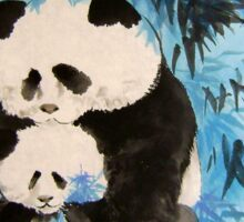 tenderness in the bamboos Sticker