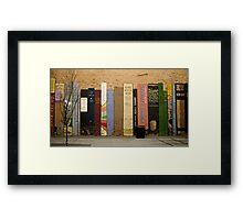 Urban Bookshelf Framed Print