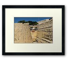 Maltese Knights Legacy - Valletta City Walls Cafe Open for Business Framed Print