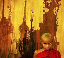 Mandalay Monk & Spires by EricKuns