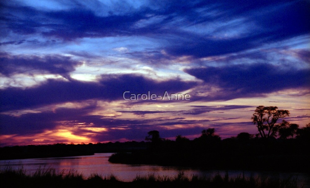 Namibian Angolan Border Sunset #1 by Carole-Anne