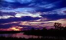 Namibian Angolan Border Sunset #1 by Carole-Anne