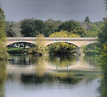 Reflecting On Chenonceau ( 9 ) by Larry Lingard-Davis