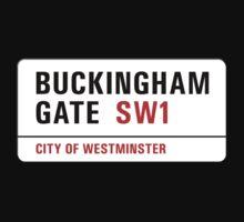 Buckingham Gate, London Street Sign, UK Kids Tee