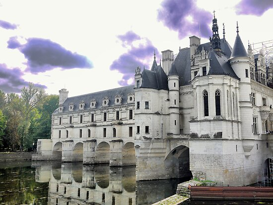 Reflecting On Chenonceau ( 7 ) by Larry Lingard-Davis