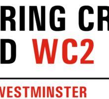 Charing Cross Road, London Street Sign, UK Sticker
