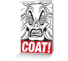 COAT! Cruella De Vil Greeting Card