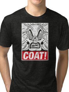 COAT! Cruella De Vil Tri-blend T-Shirt