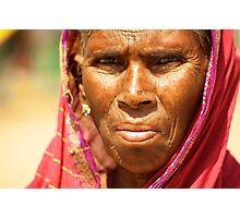 Humble Woman Photographic Print