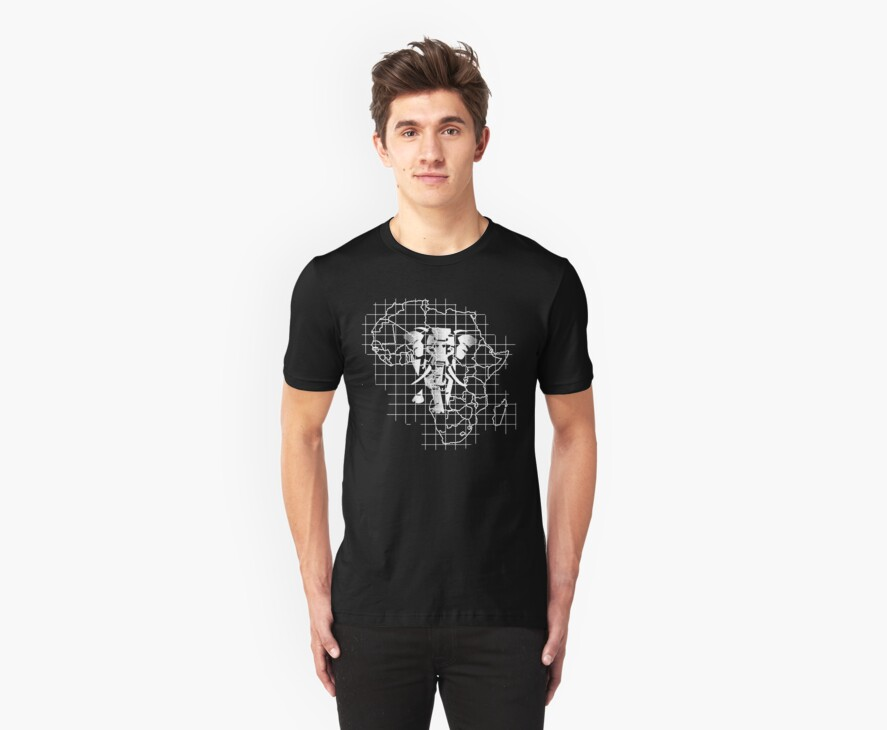 african elephant t-shirt by parko