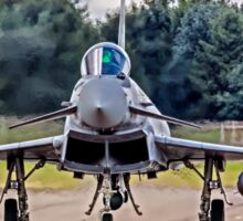 Typhoon taxying in ahead of the storm Sticker