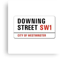 Downing Street, London Street Sign, UK Canvas Print