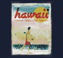 HAWAII AD - COME RIDE THE WAVES One Piece - Short Sleeve