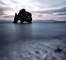 Drinking dragon, exposed rock in Iceland by vkph