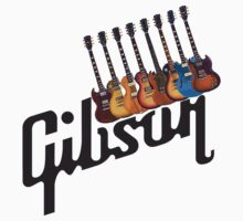 Gibson Les Paul Guitar Medley T2 Kids Tee