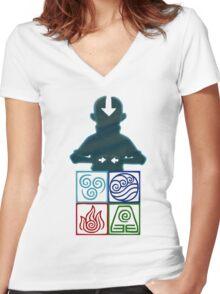 Avatar Women's Fitted V-Neck T-Shirt