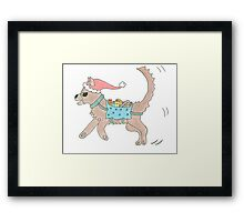 A Christmas Dog Framed Print