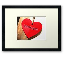 Simply With Love Framed Print