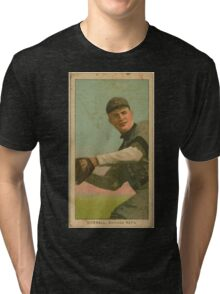 Benjamin K Edwards Collection Orval Overall Chicago Cubs baseball card portrait 003 Tri-blend T-Shirt