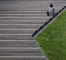 Sitting on the Steps by John Sharp