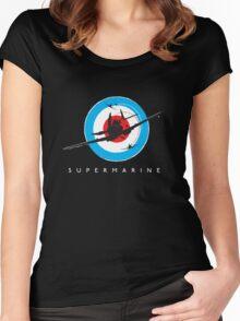Supermarine Spitfire Design 001 Women's Fitted Scoop T-Shirt