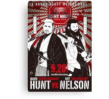 Mark Hunt Vs Roy Nelson Fight Night Japan UFC Canvas Print