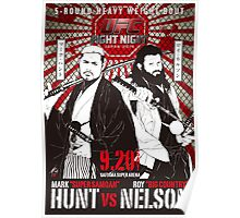 Mark Hunt Vs Roy Nelson Fight Night Japan UFC Poster