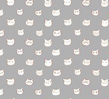 Moody Kitty Faces! by KALI- MAV