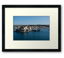 Postcard from Malta - Grand Harbour Superyachts Framed Print