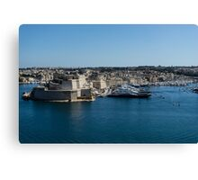 Postcard from Malta - Grand Harbour Superyachts Canvas Print