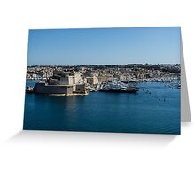 Postcard from Malta - Grand Harbour Superyachts Greeting Card