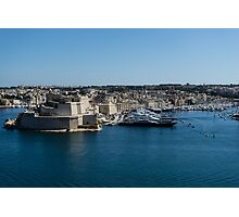 Postcard from Malta - Grand Harbour Superyachts Photographic Print