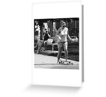 Sports Photography (bw) Greeting Card