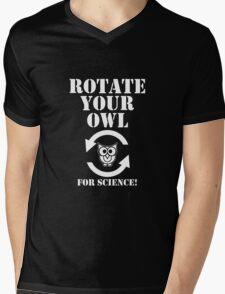 Rotate Your Owl Dark Mens V-Neck T-Shirt